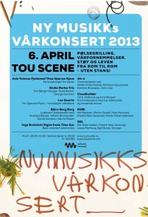 Poster for Ny Musikk Stavanger's spring concert 2013
