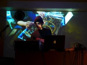 Alexander Rishaug live in Tokyo. Photo: Jason Funk